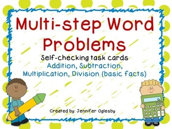 Multi-step Word Problems: QR code Task Cards