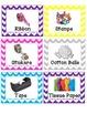 Multicolored Chevron Labels
