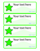 Multicoloured Drawer Peg Name Labels with Stars