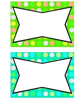 Multicoloured dot borders