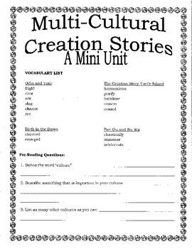 Multicultural Creation Stories-Mini Unit