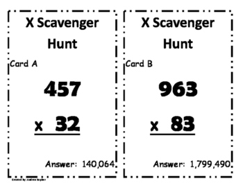 Multidigit Multiplication Scavenger Hunt