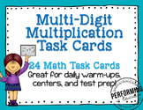 Multidigit Multiplication Task Cards Grades 4-5 Common Cor