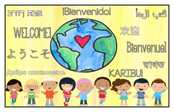 Multilingual Classroom Welcome Sign - Yellow
