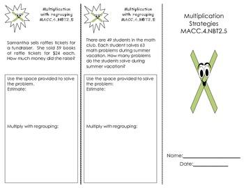 Multiplication Strategies Trifold
