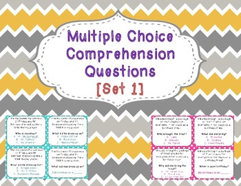 Multiple Choice Comprehension Questions for One Sentence S
