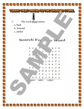 Multiple Choice Meaning and Word Search