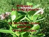 Jerry Spinelli's Milkweed: 21 Multiple Choice Reading Chec