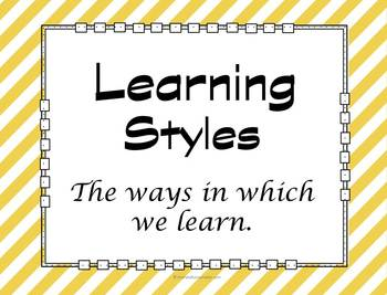 Study Skills: Learning Styles Slideshow and Guidance Activity