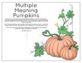 Multiple Meaning Pumpkins