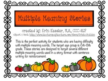Multiple Meaning Stories
