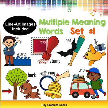 Multiple Meaning Words Cliipart Set #1 (Homonyms)