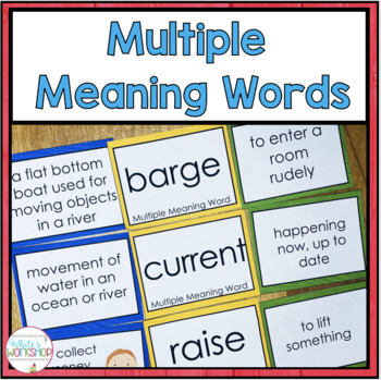 Multiple Meaning Word Literacy Centers for grades 3-6