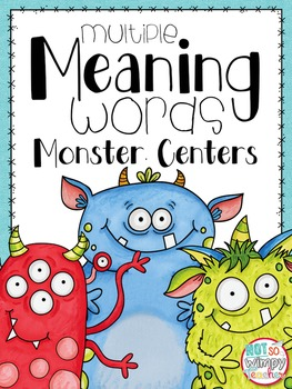 Multiple Meaning Word Monster Centers