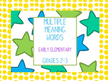 Multiple Meaning Word Stars Level 2