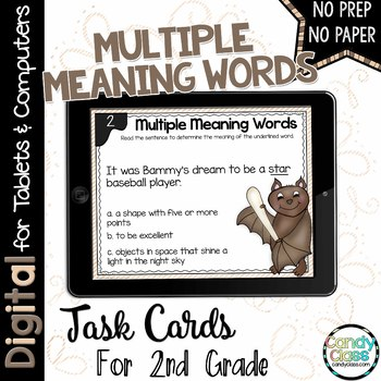 Multiple Meaning Word Task Cards for Google Use (Homonyms)