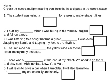 Multiple Meaning Words 5