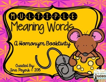 #presidentsdaydeals Multiple Meaning Words: A Homonym Booktivity