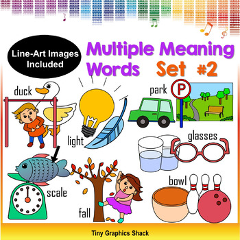 Multiple Meaning Words Clipart Set #2 (Homonyms)