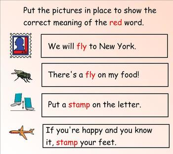 Multiple Meaning Words: Interactive Activities