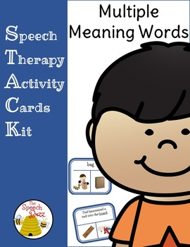 Multiple Meaning Words Picture and Task Cards (STACK)