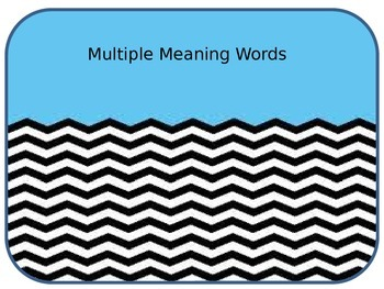 Multiple Meaning Words Power Point
