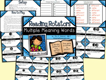 Multiple Meaning Words Review Game for Your Entire Class -