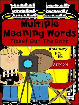 Multiple Meaning Words Ticket Out The Door