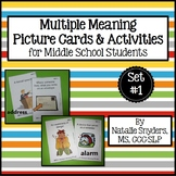Multiple Meanings Activities for Speech-Language Therapy -
