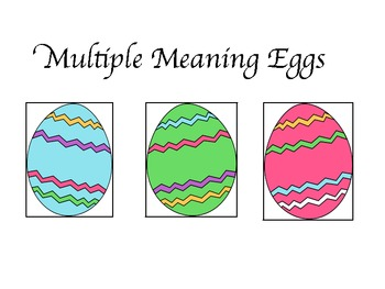 Multiple Meanings Eggs