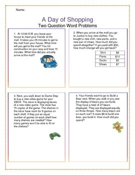 Word Problems: Division/Multiplication - Multiple Steps/Mu