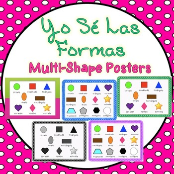 Multiple Shapes Poster in Spanish