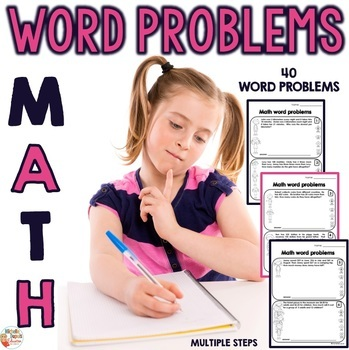 Multiple Step Word Problems  - Worksheets - 3rd grade - 4t