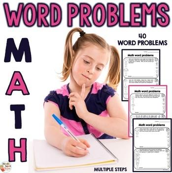 Word Problems  - 3rd grade - 4th grade - 5th grade