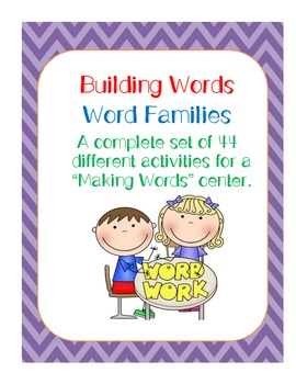 Multiple sets..Word Family Center...44 Different CVC Word
