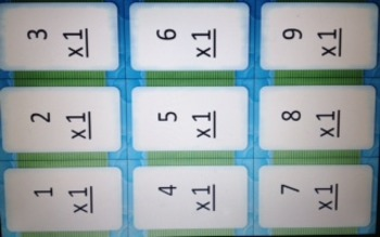 Multiples 1 thru 12 FLASH CARDS w/o answers