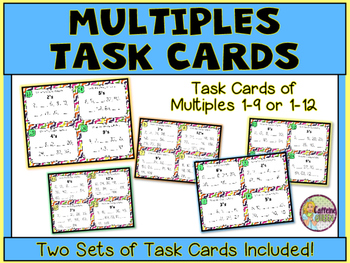 Multiples Task Cards & Skip Counting For Multiplication Fluency