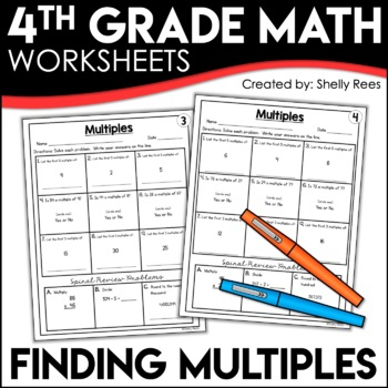 Multiples Worksheets