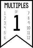 Multiples of 1 - 12 FREEBIE