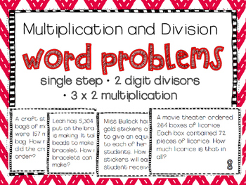 Multiplication and Division Single Step Word Problems (TEK