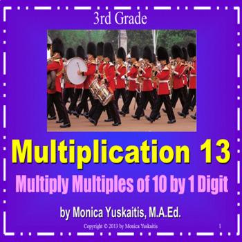 Common Core 3rd - Multiplication 13 - Multiplying 1 Digit