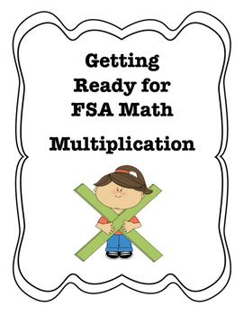 FSA Assessment Quiz, Go Math, Multiplication