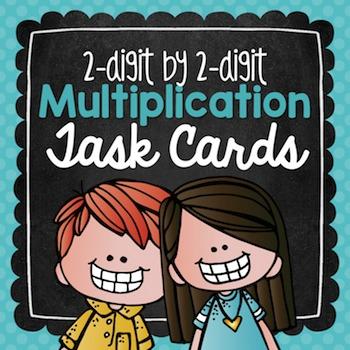 Multiplication Task Cards {2-Digit by 2-Digit}