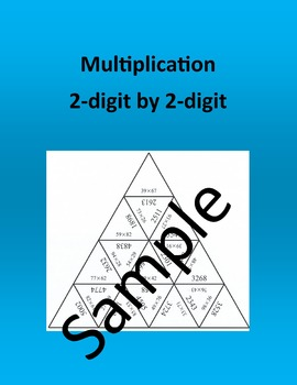 Multiplication – 2-digit by 2-digit – Math Puzzle