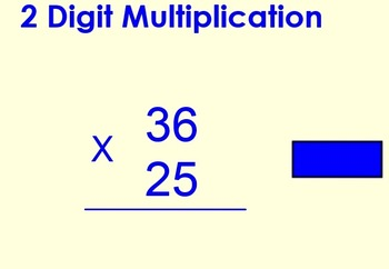Multiplication 2 digits times 2 digits practice:  Smart Bd