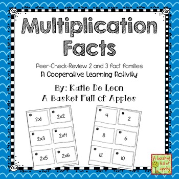 Multiplication 2 fact family: peer-check-review cooperativ