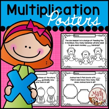 Multiplication Word Problems: Students Color Posters to Cr