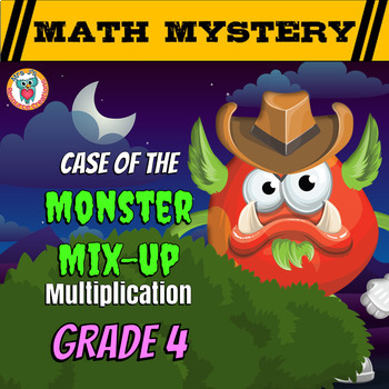 Multiplication Math Mystery Activity - Multiplying with la