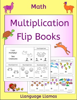 Multiplication Flip Books - Times Tables 2 to 10 - cute an