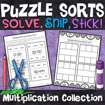 0-12 Facts Multiplication Puzzles